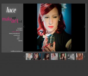 Screenshot of http://lucecousineau.com