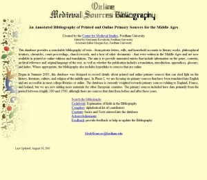 Screenshot of http://medievalsourcesbibliography.org